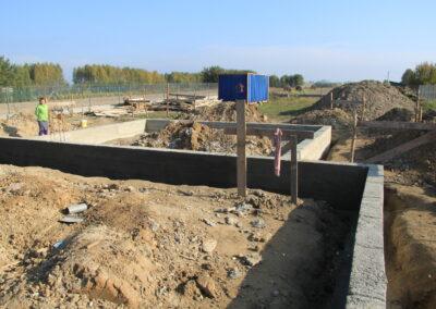 Budowanie domu w Pabianicach w trakcie wykonania